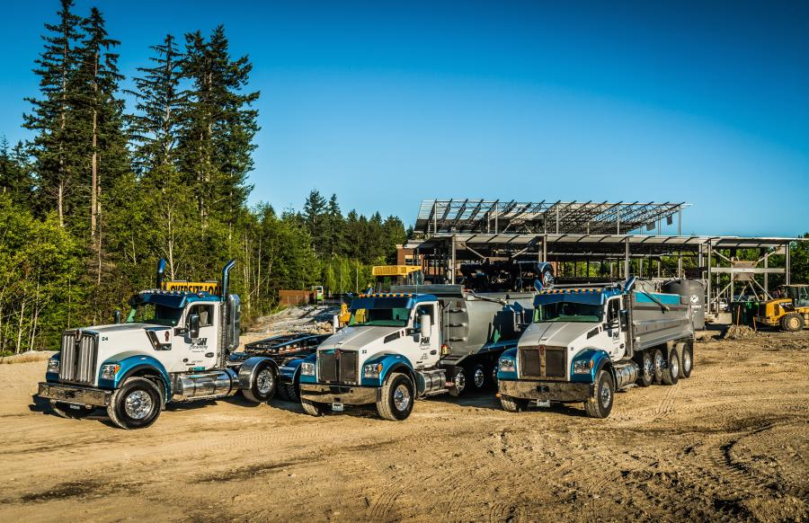PGH Excavating operates two Kenworth T880s and two T880S models equipped with PACCAR MX-13 engines rated at 510 hp. The company also has a W990, Kenworth's new long-hood model.