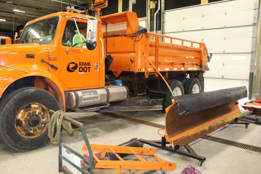 The Iowa DOT is strategically making the switch from construction maintenance activities to preparing its equipment, materials and staffing for the needs of the winter travel season. (Iowa DOT photo)