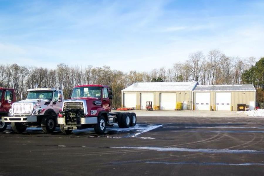 At 8,500 sq. ft. and 5-acres, the addition consists of a large shop floor, parts-mezzanine, office space and worker amenities, with a paved lot for ample parking.