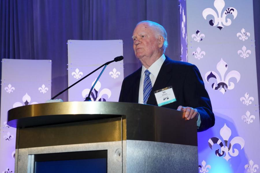 "The American Concrete Pavement Association (ACPA) has recast its honorary life membership and named it in honor of Leet ""Ed"" Denton, retired president of Denton Enterprises of St. Clair Shores, Mich. Denton also became the first recipient of the namesake membership category."