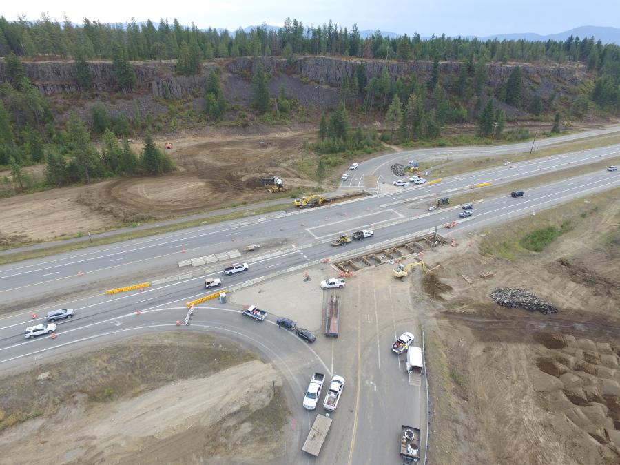 The intersection with ID 53 junction near Hayden, Idaho, will be replaced with a unique interchange.