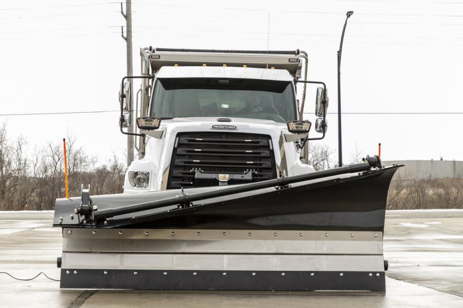 """Operators can """"flex"""" the upper moldboard of the SnowDogg SuperFlex into various positions. This makes it ideal for both urban and expressway use."""