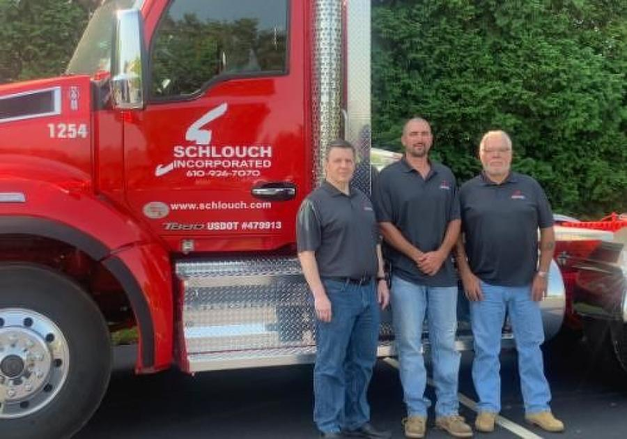 (L-R) are Rich King, Kevin Reimert and Don Swasing, all of Schlouch Incorporated.