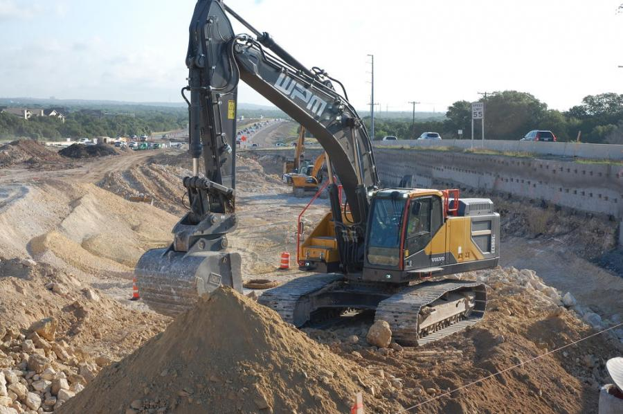 A total of 750,000 cu. yds. of excavation and 38,000 cu. yds. of embankment will be moved during construction.