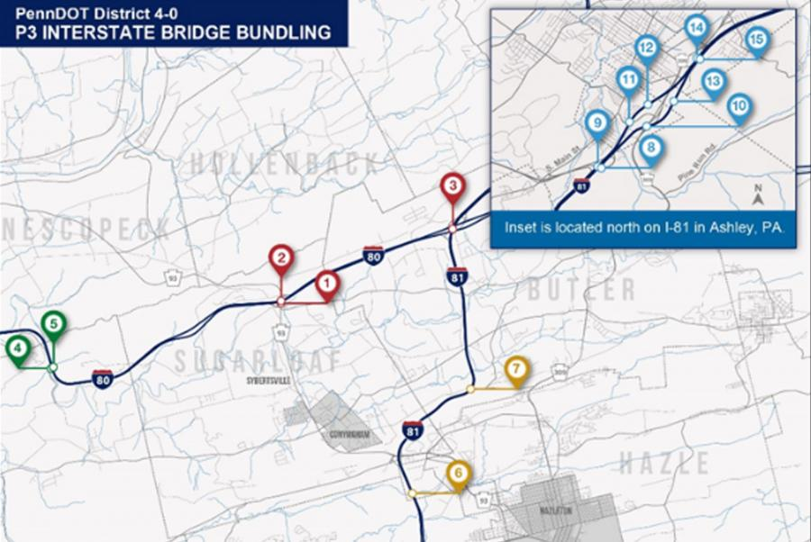 The PennDOT P3 Board approved a proposed P3 project to reconstruct a 4.5-mi. section of I-81 near Wilkes-Barre.