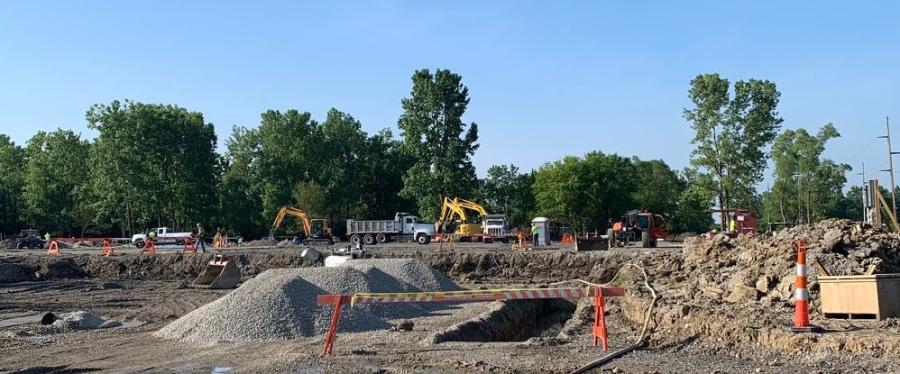 The placement of the underground utilities — gas, electric, communications, storm, sewer and water lines —started on July 17 and was completed on Oct. 22.