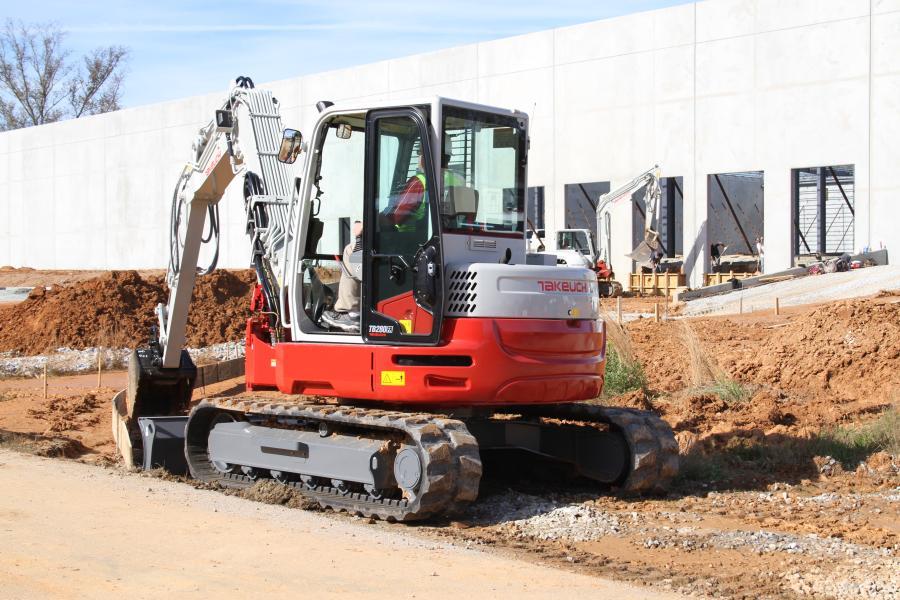 Takeuchi's TB280FR compact hydraulic excavator.