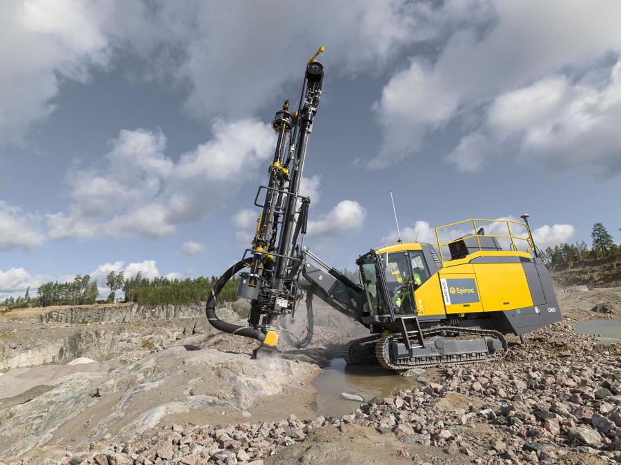 The new Epiroc SmartROC D60 down-the-hole (DTH) surface drill rig for quarrying, mining and construction has been updated with Epiroc's automation-ready platform.