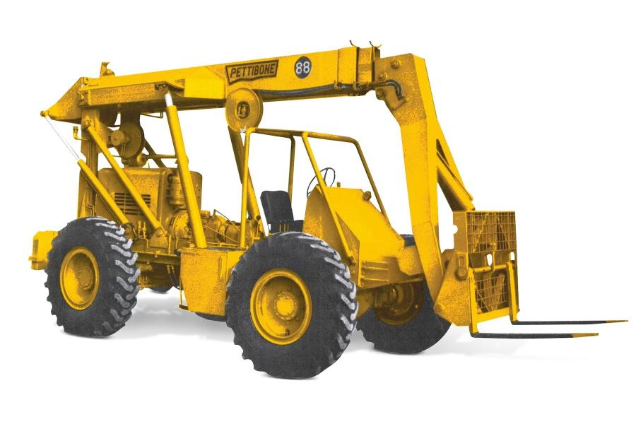 Pettibone/Traverse Lift LLC is celebrating the 50th anniversary of the Pettibone Model 88 Extendo, believed to be the first telescopic handler ever produced.