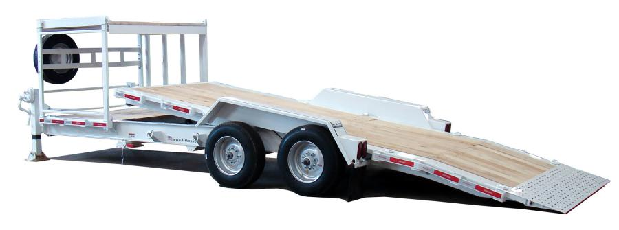 The FT-20 IT-I has a removable storage rack on a stationary  platform, rub rail with stake pockets and 5-ft. dovetail.