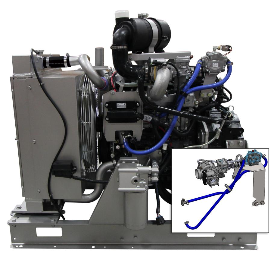 Isuzu's new dual fuel power system helps eliminate downtime on site.