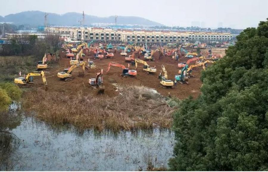 The hospital will sit in the Caidian District of western suburb of Wuhan. (Xinhua News Agency/PA Images photo)