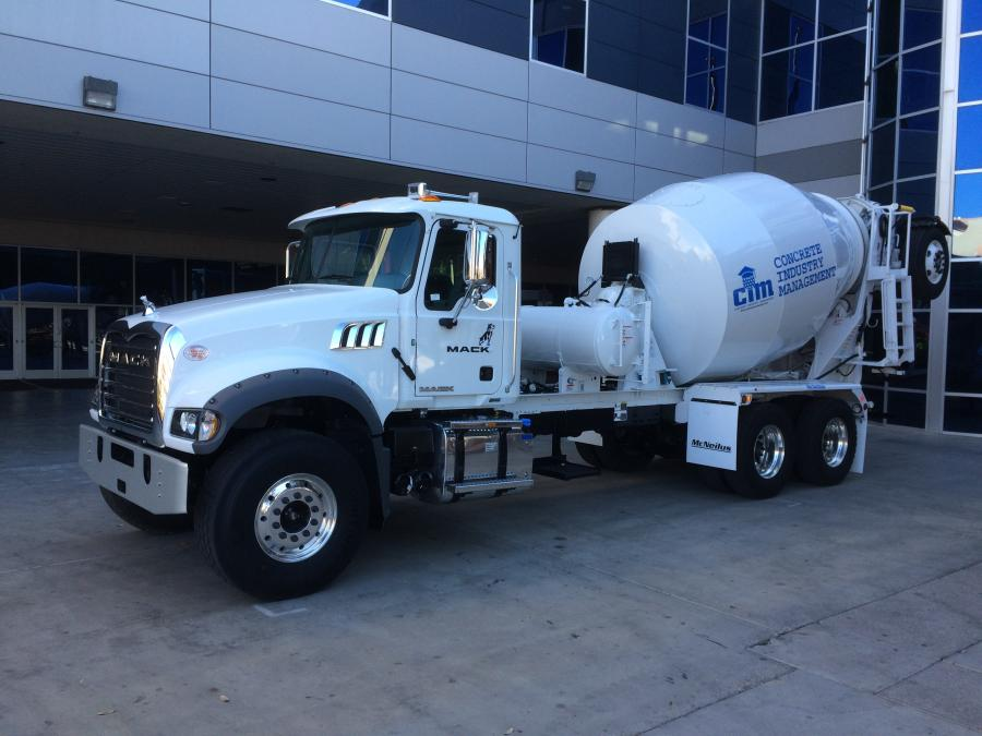 Mack Trucks donated a 2019 Mack Granite Axle Forward model to the 15th annual Concrete Industry Management (CIM) auction, taking place Feb. 5 during World of Concrete 2020 at the Las Vegas Convention Center.