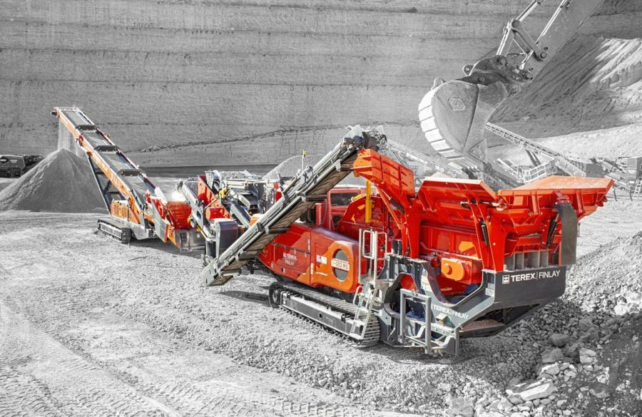 Terex Finlay I-120RS and TF-75L low level feeder