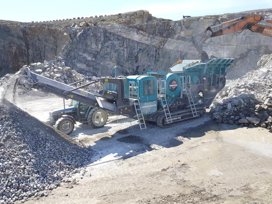 As well as a showcase of digital technology, three machines will be on display: Powerscreen Premiertrak 600XL jaw crusher, the Powerscreen Chieftain 1700X Hybrid screen and a PowerscreenCT75R tracked radial stockpiling conveyor.