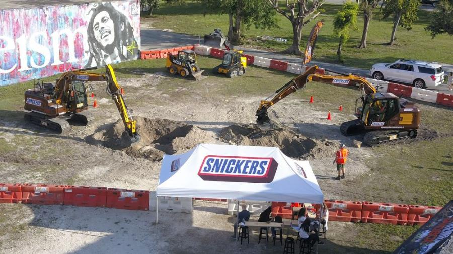 MacKinnon JCB provided two brand new JCB 150X excavators to support the Snickers initiative. (Extreme Sandbox photo)