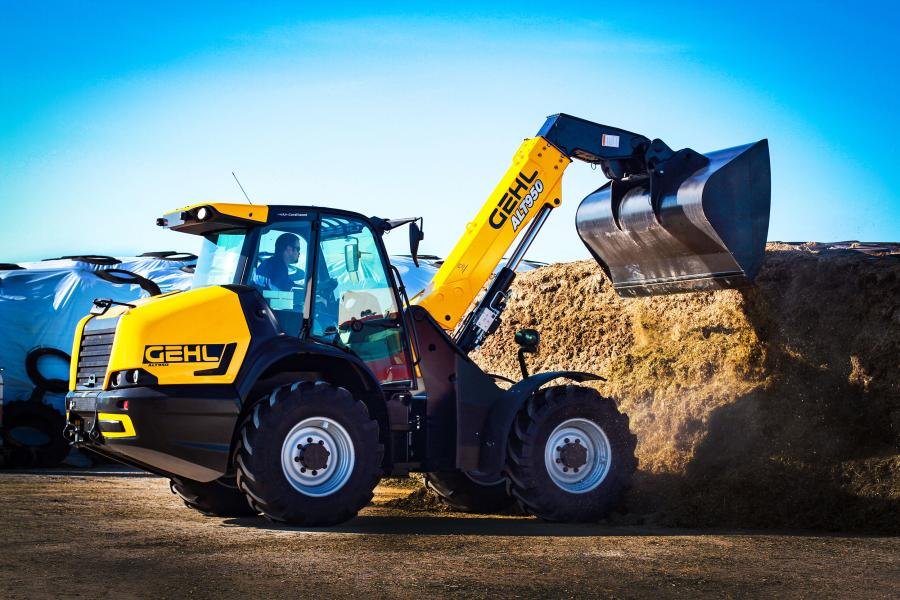 With the sharp turning radius, the ALT950 telescopic articulated loader is capable of performing U-turns in confined job sites, making 44-degree turns in either direction.