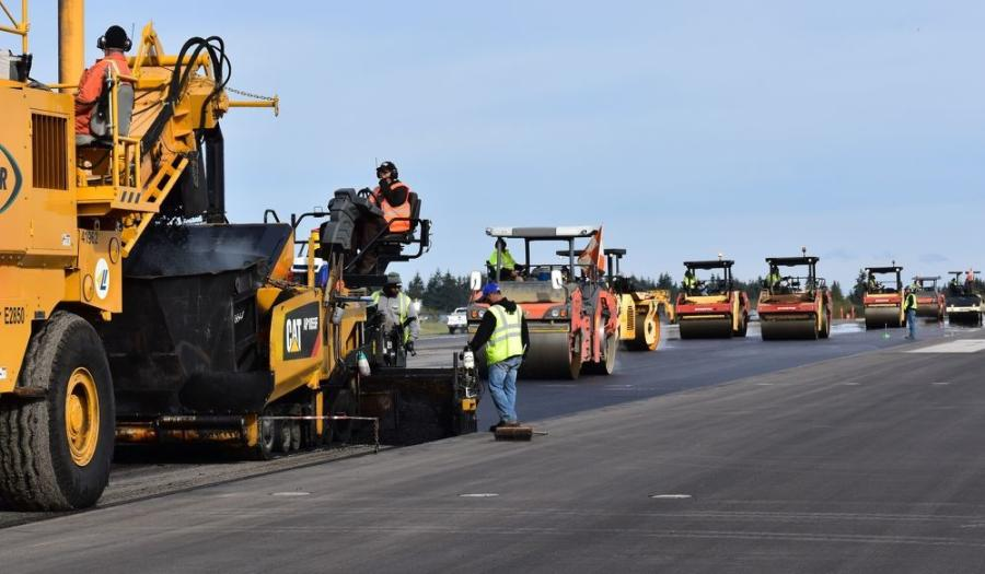 Crews worked around the clock to deliver a freshly paved section of the runway at Paine Field in Everett, Wash., in just eight days.