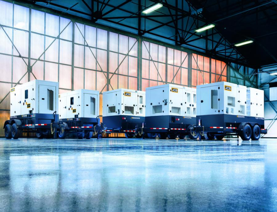JCB Power Products RS generators range includes five Tier IV Final-compliant, delivering prime power output of 56 kW (70 kVA) to 500 kW (625 kVA).