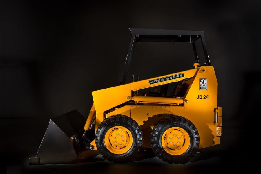 John Deere is commemorating 50 years of being in the skid steer loader business in 2020.