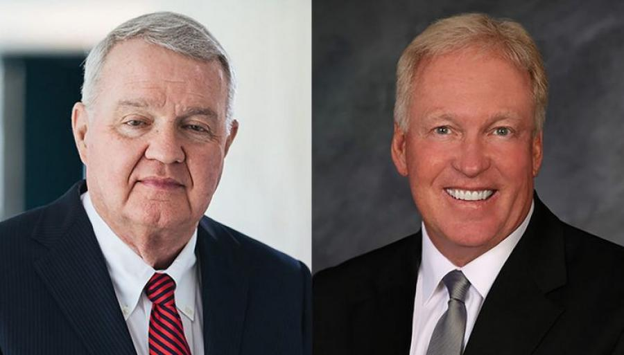 Jim Burnley (L) has been named chair of the TSAC. Lee Cole was named chair of ARTBA's safety committee.