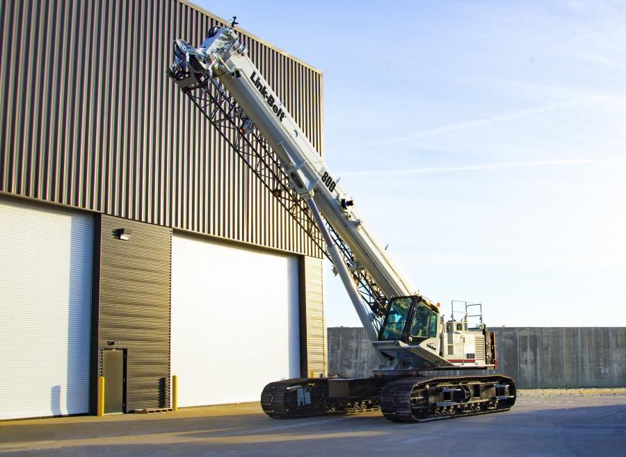 An all-new 80-ton (75-t) Link-Belt TCC-800 telescopic crawler crane will debut at ConExpo 2020.