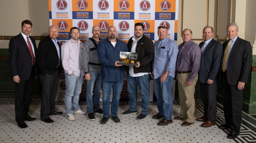 Members of the Kilgore Companies Southern Utah Construction Group are presented the Contractor of the Year award at the Associated General Contractors (AGC) of Utah's annual banquet. (Kilgore Companies photo)