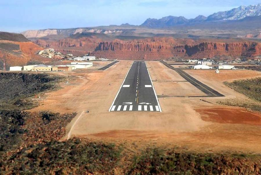 Ogden-Hinckley Airport will receive $1.6 million to fund apron repairs. (Washington County Historical Society photo)