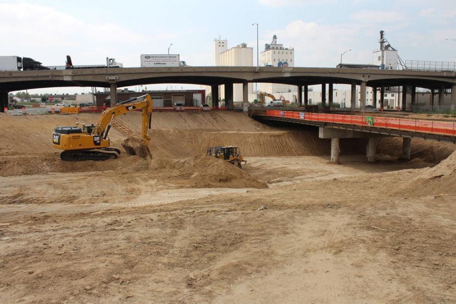 Excavation work is performed under Monroe Street. (Colorado Department of Transportation photo)
