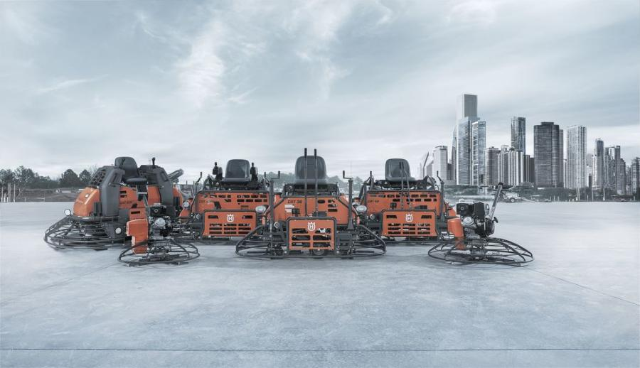 Husqvarna walk-behind trowels are powerful machines, developed to deliver a smooth and durable concrete surface without compromising the operator's productivity and safety. The range consists of gas-powered machines ranging from 24 to 48 in. (61 to 122 cm) in diameter.