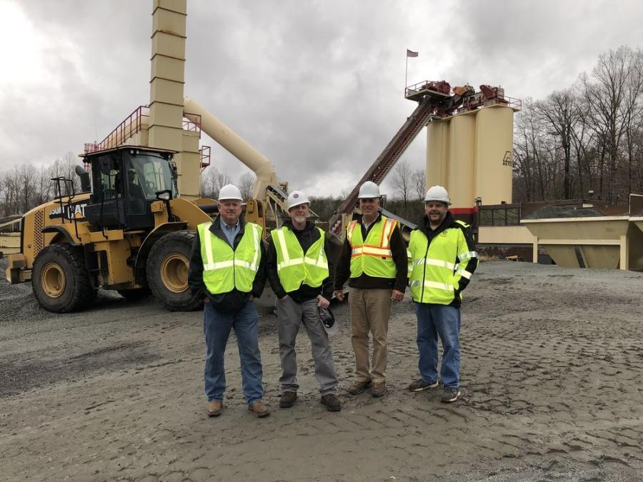 (L-R): John Mason of Black Rock Crushing, Corey Simerson of Hanes Construction, Kurt Held of Carolina Cat and John Pritchard of Hanes Construction.