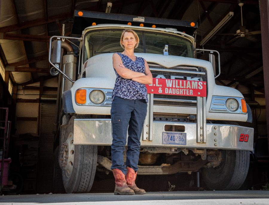 Lisa Wilson, president of G.L. Williams & Daughter Trucking