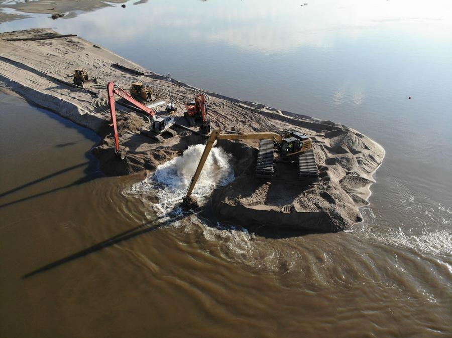 The Missouri River Levee System L-575 sustained seven breaches, along with significant other damage during the March 2019 event. These breaches ranged in size, with the largest breach 