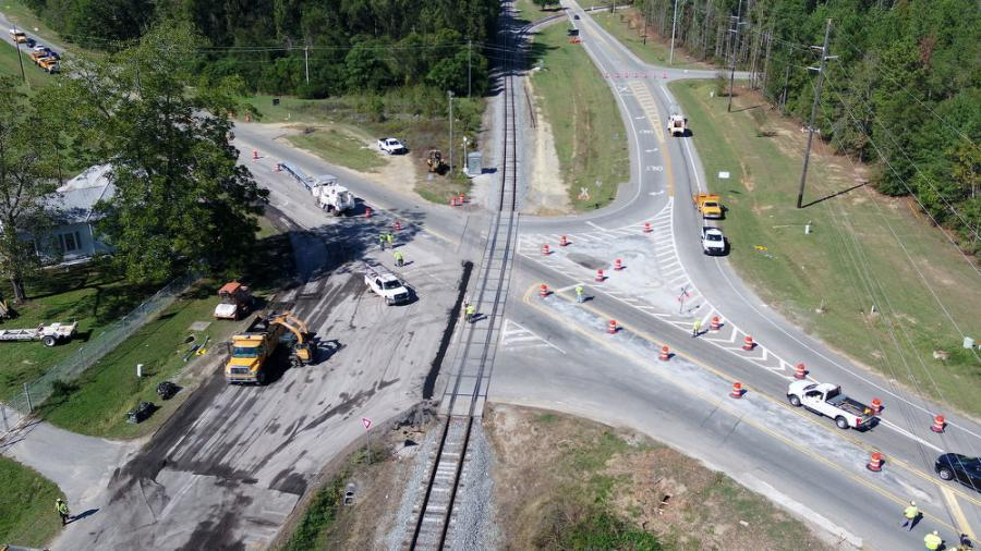 An overhead view of what the intersection looked like prior to GDOT's facelift.