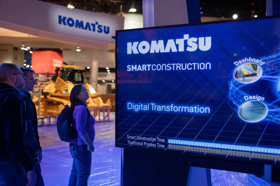 Komatsu's Smart Construction roadmap – introduced at a special event at ConExpo-Con/AGG 2020 – includes 11 new solutions with releases starting this coming year.