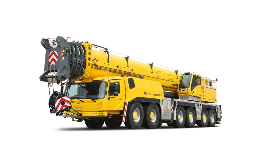 The new 450 ton (400 t) capacity GMK6400-1 is the landmark crane launching virtually, while the 300 ton (250 t) capacity GMK5250XL-1 joins the company's on-stand line up.