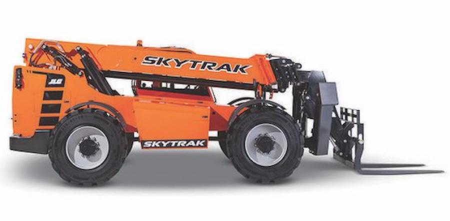 This 12,000 lb. class telehandler, now the largest model in the SkyTrak line, comes with a single joystick for greater multifunction capability and an integrated hitch and boom-mounted lifting lug for improved productivity.