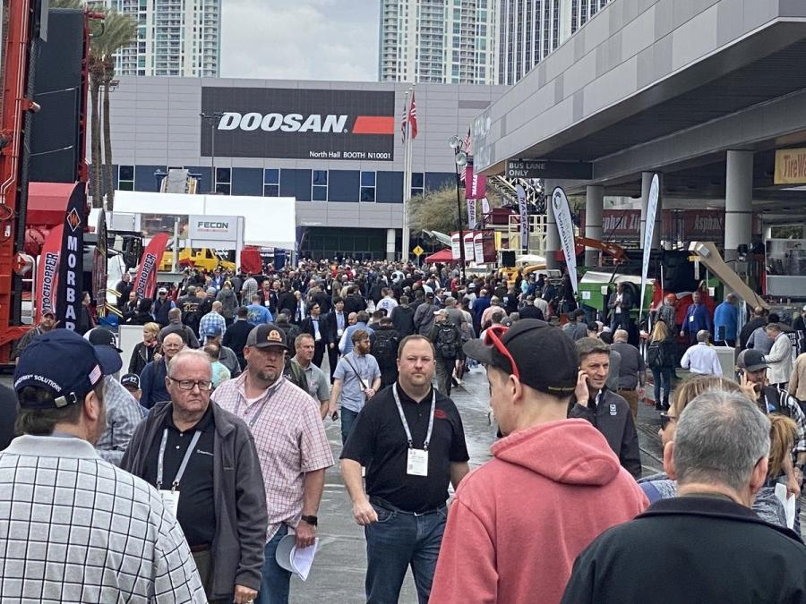 Cold weather, rain and Coronavirus couldn't stop hundreds of thousands attendees on the first day of ConExpo-Con/AGG 2020.