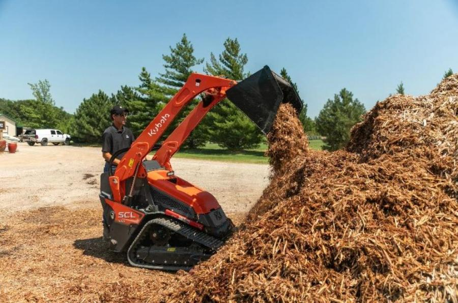 The new stand-on track loader is well-positioned with wide tracks, narrow body and a Rated Operating Capacity (ROC) of 1,000 lbs. to meet the demands of landscape contractors and rental yards alike.