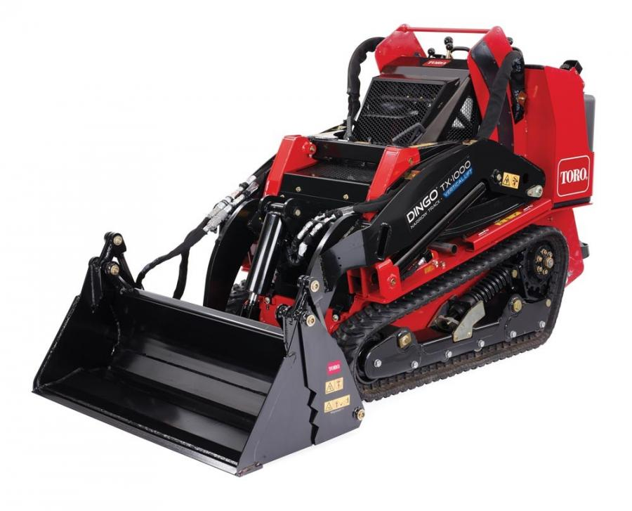 The four configurations of the new attachment include: standard bucket, leveler, blade and grapple.
