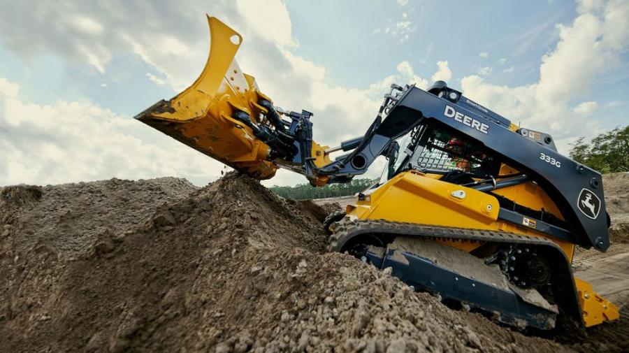 The new 333G SmartGrade compact track loader helps operators get the job done.
