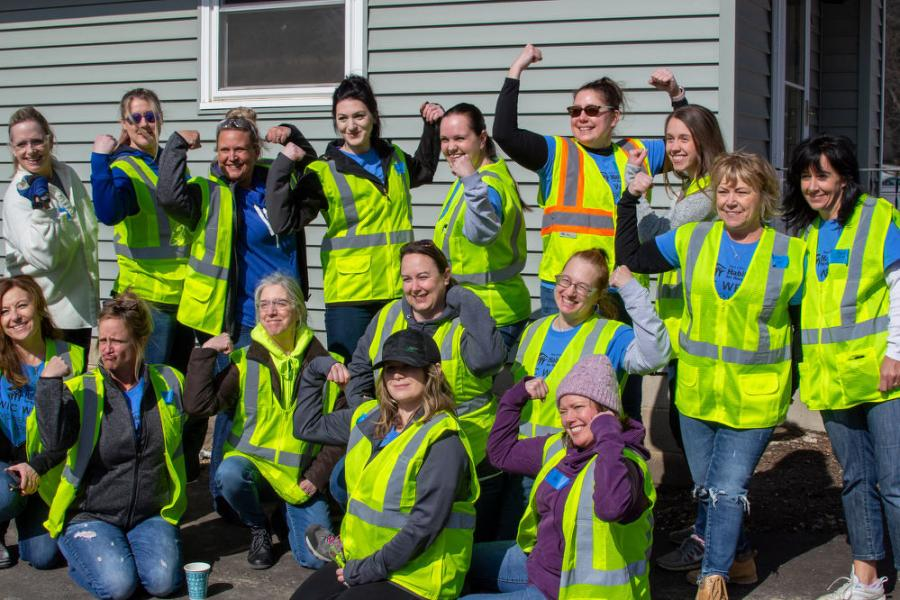 Taking part in the build was the Minneapolis/Saint Paul Chapter of The National Association of Women in Construction (NAWIC) as the chapter celebrated Women in Construction Week, March 1 to 7.