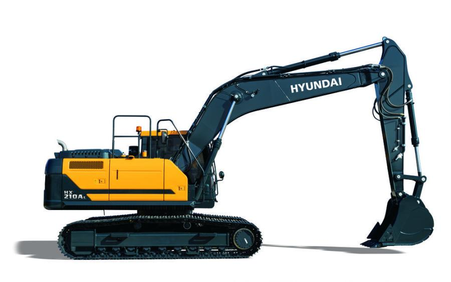The new Hyundai HX210A excavator, is the first full-sized model in the new Hyundai A Series excavators, featuring Cummins Performance Series engines.