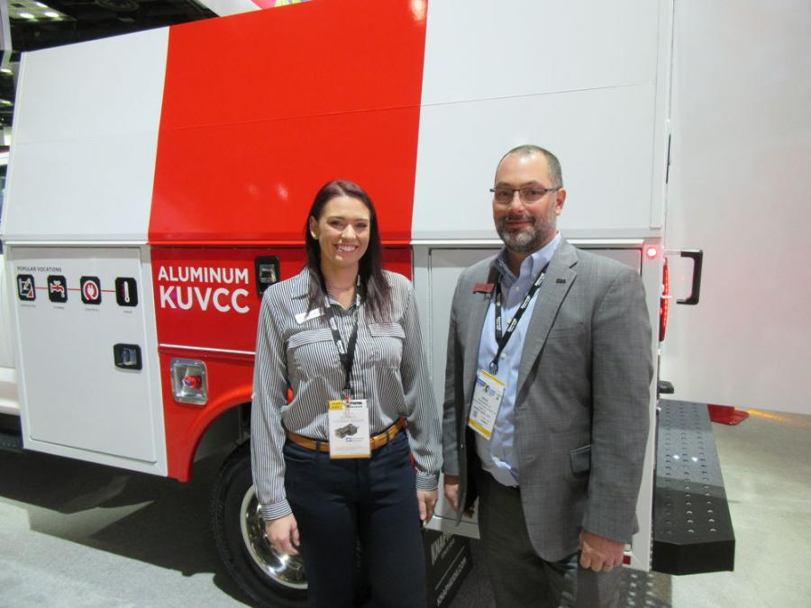 Knapheide Manufacturing Company's Kayla Baker and Doug Balella were ready to discuss their company's lineup of work ready truck and van bodies.
