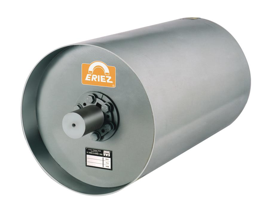 Permanent and electric magnetic pulleys from Eriez automatically separate heavy tramp iron contaminants from conveyor transported materials.