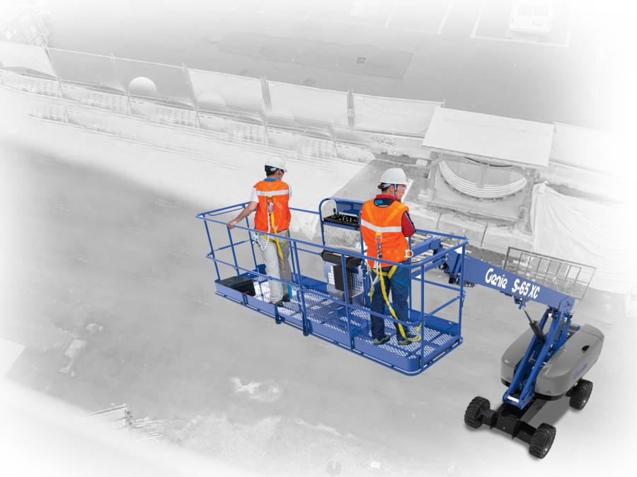 The Genie Lift Tools 13-ft. platform is engineered with 14 lanyard anchor points, compared to eight points on the 8-ft. (2.4 m) platform, to take full advantage of the larger work space. And for consistency within the Genie brand's product offerings, this new accessory utilizes the same digital load sense system as all Genie XC booms.