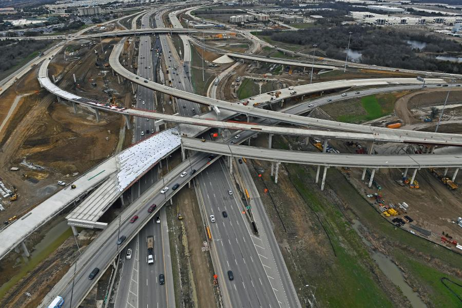 The state approved an initial $1.3 billion of new funding for congestion relief in the state's five largest metropolitan regions, Austin, Houston, Dallas, Ft. Worth and San Antonio.