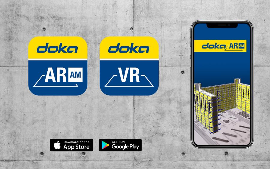 The Doka Augmented Reality and Virtual Reality Applications enriches 2D drawings with 3D models.