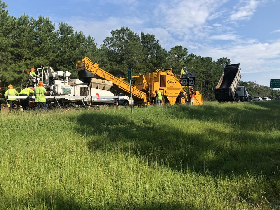 Work along Route 301 in Screven County, Ga.