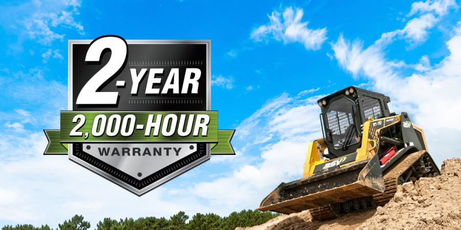 ASV Holdings Inc. backs up the quality of its equipment with a new 2-year, 2,000-hour warranty for its Posi-Track and skid-steer loaders. The warranty covers compact track loader tracks for the entire warranty period and features the industry's first and only compact track loader no-derailment guarantee.